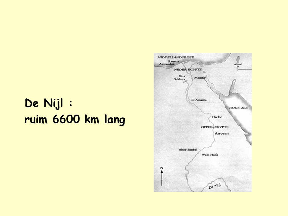 Nijl Nijl De Nijl : ruim 6600 km lang