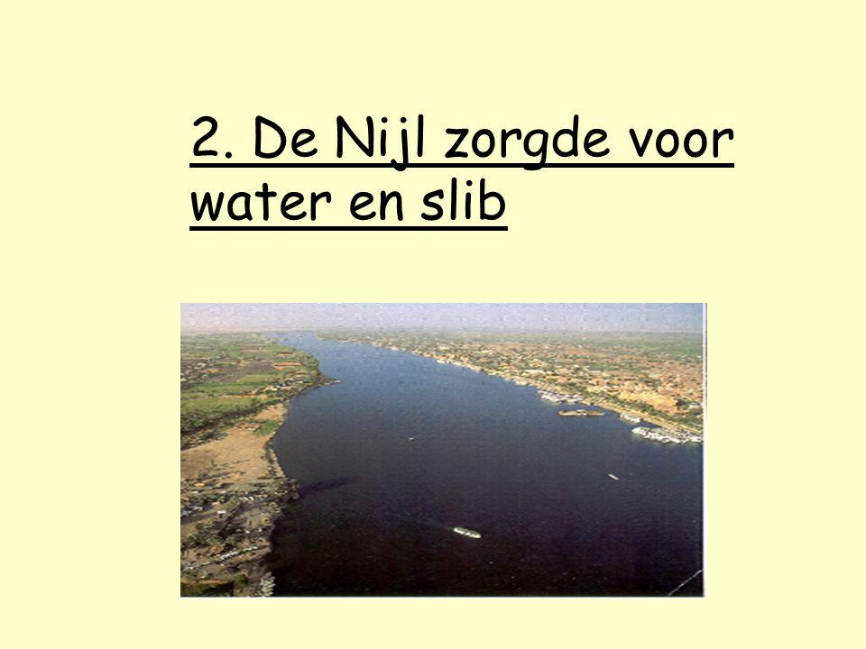2. De Nijl zorgde voor water en slib