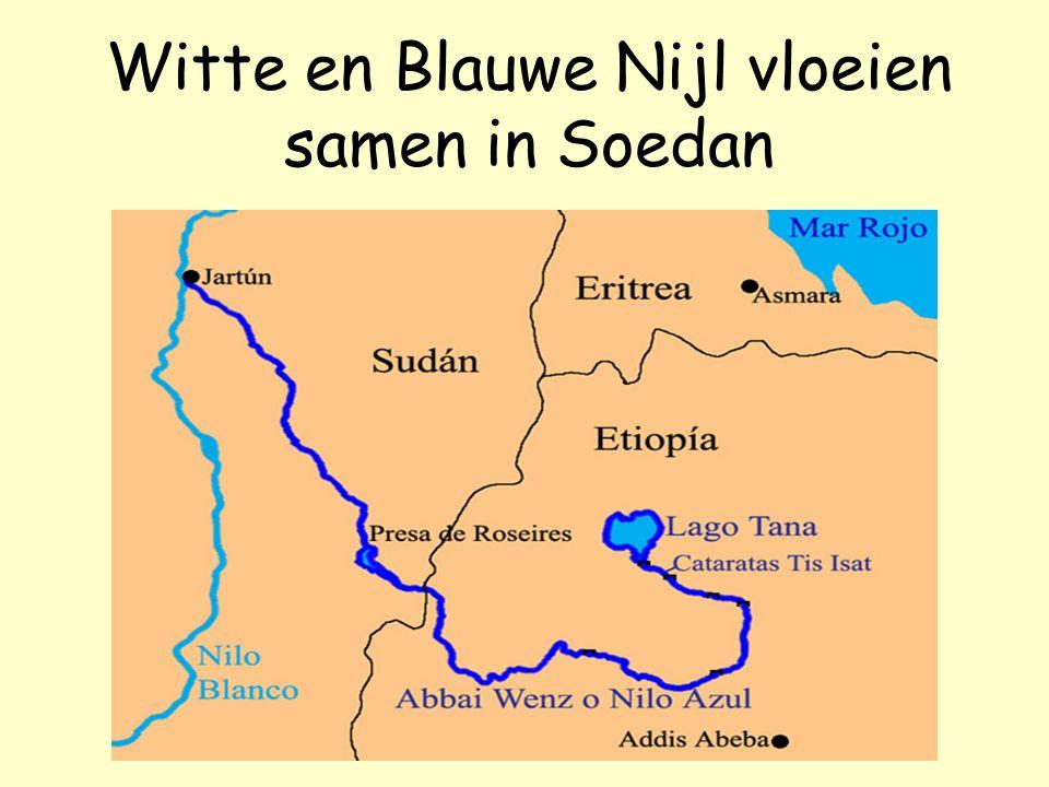 Witte en Blauwe Nijl vloeien samen in Soedan