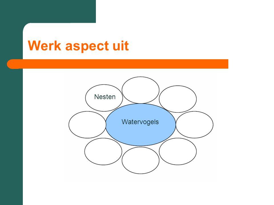 Werk aspect uit Watervogels Nesten
