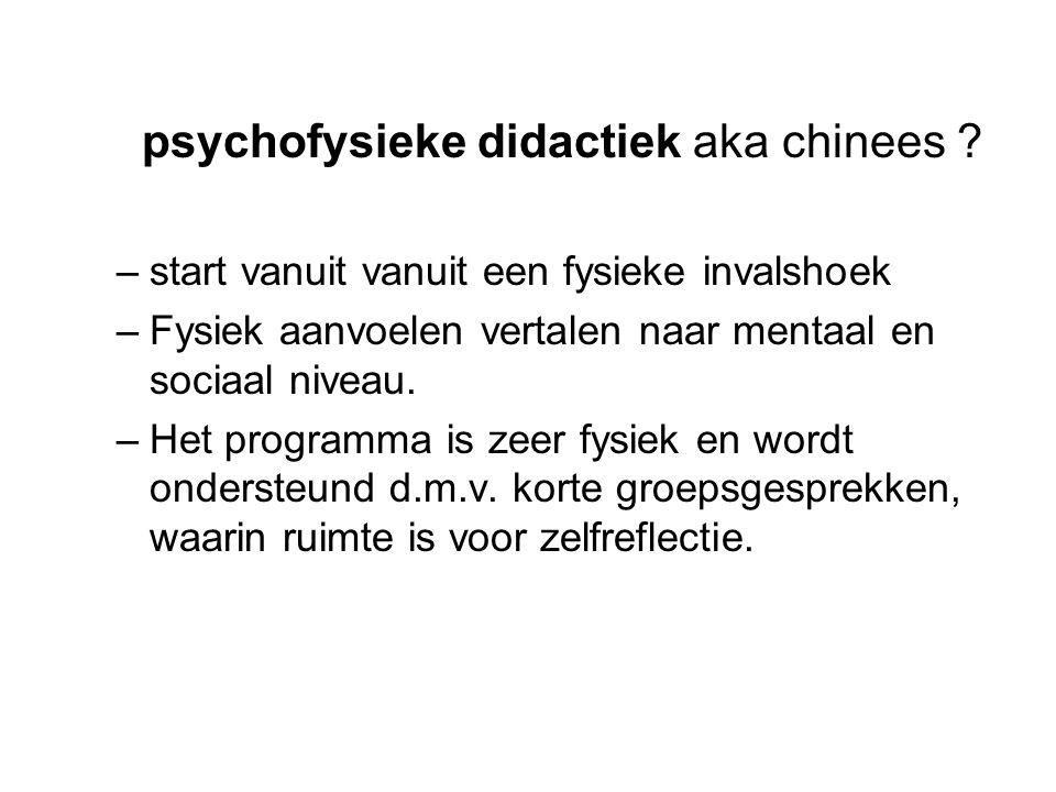 psychofysieke didactiek aka chinees .