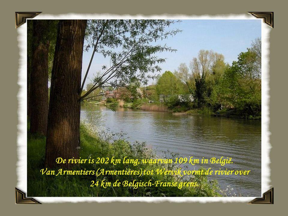 De rivier is 202 km lang, waarvan 109 km in België.