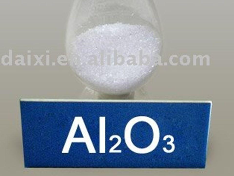Aluminiumoxide, ook bekend onder de naam aluinaarde of alumina is een chemische stof met de formule Al2O3, een verbinding van aluminium en zuurstof.aluminiumzuurstof Aluminiumoxide is een wit poeder met een dichtheid van 3,7 tot 4,0 g/cm³.