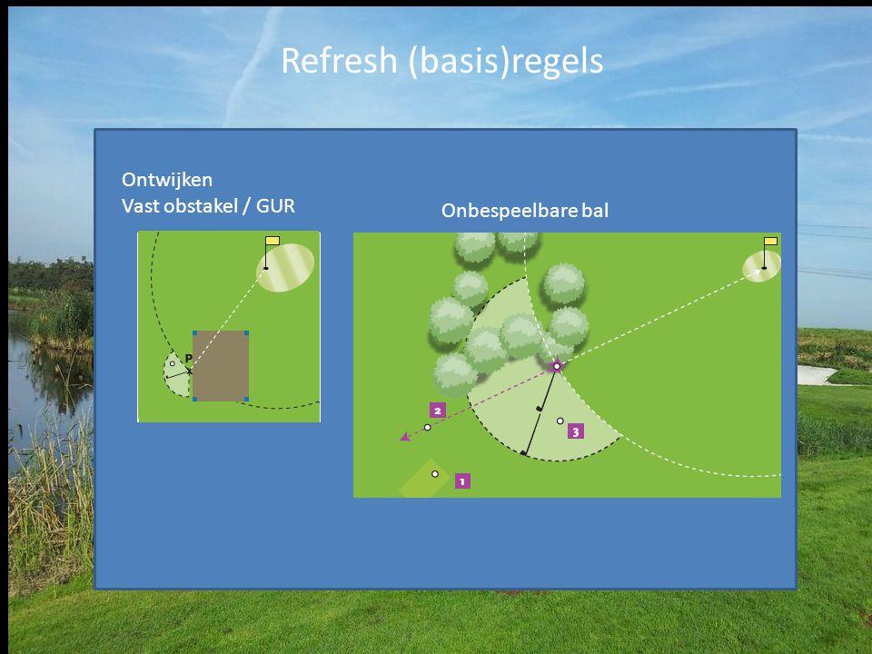 Refresh (basis)regels Ontwijken Vast obstakel / GUR 5 Onbespeelbare bal