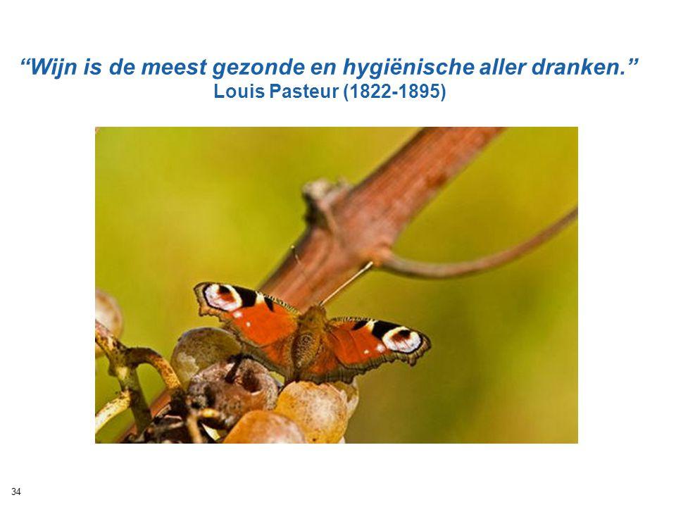"""""""Wijn is de meest gezonde en hygiënische aller dranken."""" Louis Pasteur (1822-1895) 34"""