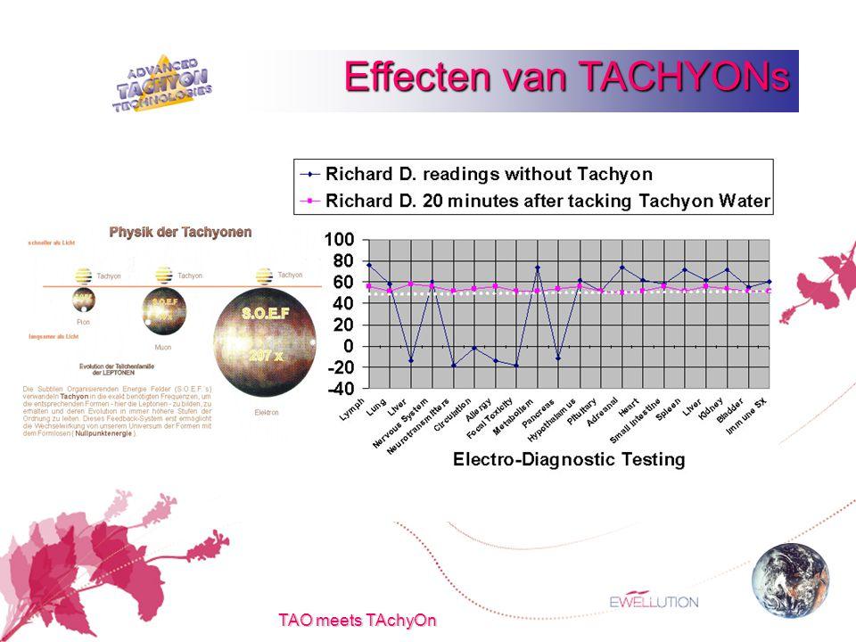TAO meets TAchyOn Effecten van TACHYONs