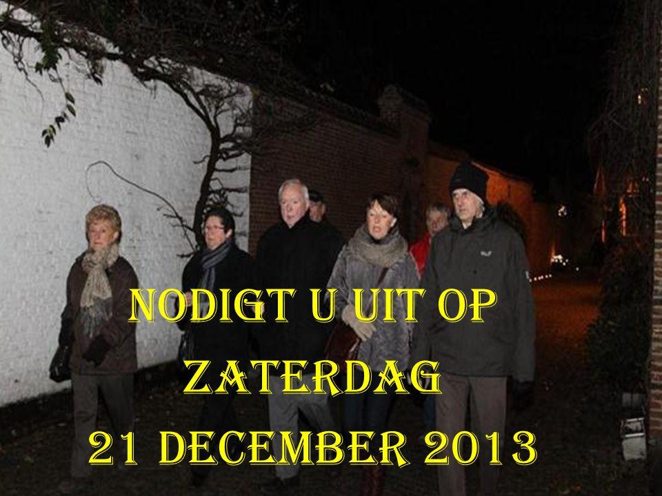 nodigt u uit op zaterdag 21 december 2013
