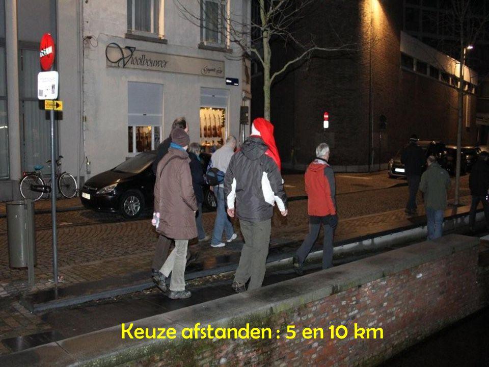 Keuze afstanden : 5 en 10 km