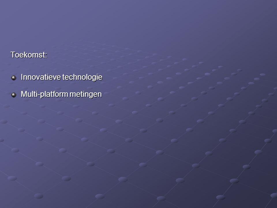 Toekomst: Innovatieve technologie Multi-platform metingen