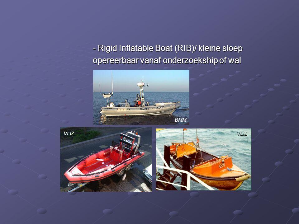 - Rigid Inflatable Boat (RIB)/ kleine sloep - Rigid Inflatable Boat (RIB)/ kleine sloep opereerbaar vanaf onderzoekship of wal BMM VLIZ
