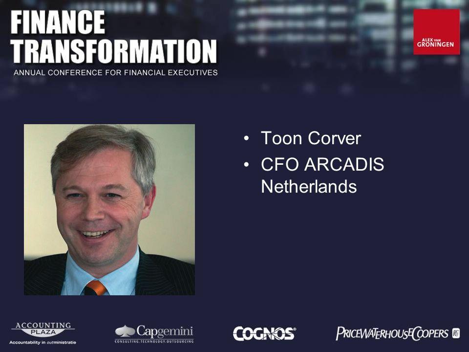 Toon Corver CFO ARCADIS Netherlands