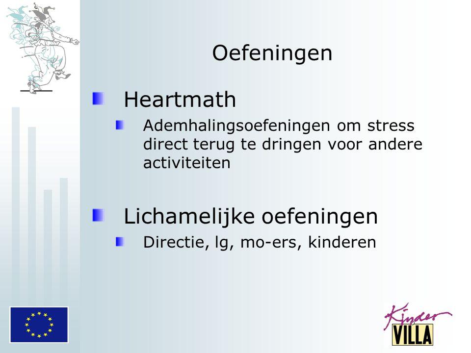 Oefeningen Heartmath Ademhalingsoefeningen om stress direct terug te dringen voor andere activiteiten Lichamelijke oefeningen Directie, lg, mo-ers, ki