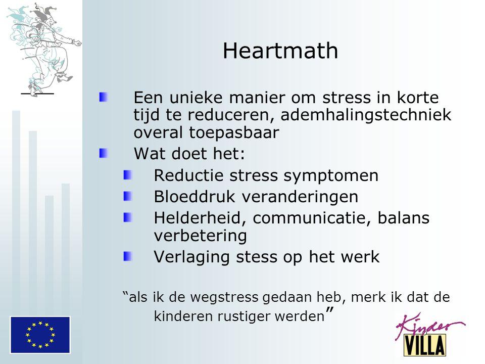 Heartmath Een unieke manier om stress in korte tijd te reduceren, ademhalingstechniek overal toepasbaar Wat doet het: Reductie stress symptomen Bloedd