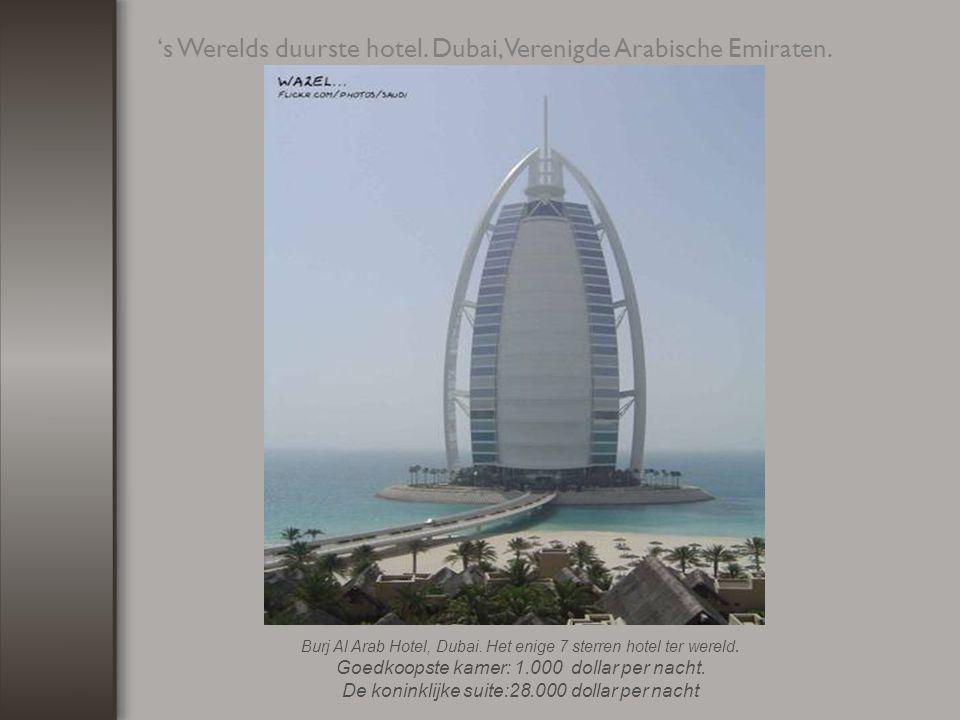 De hoogste toren ter wereld staat in Dubai.