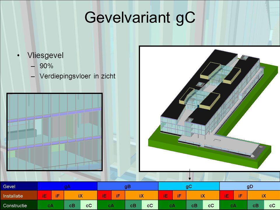 Gevelvariant gC Vliesgevel –90% –Verdiepingsvloer in zicht
