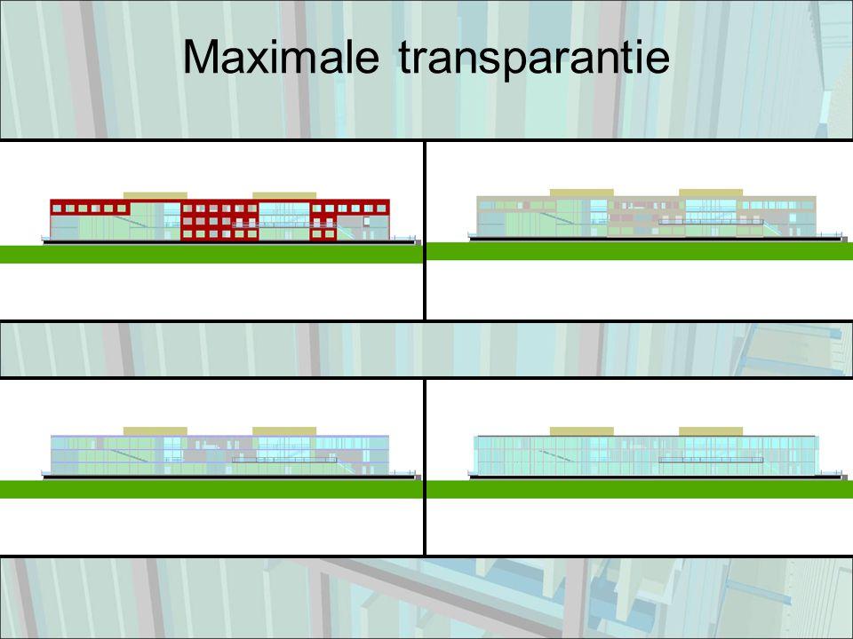 Maximale transparantie