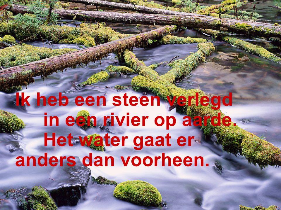 De stroom van een rivier hou je niet tegen. Het water vindt er steeds een weg omheen.