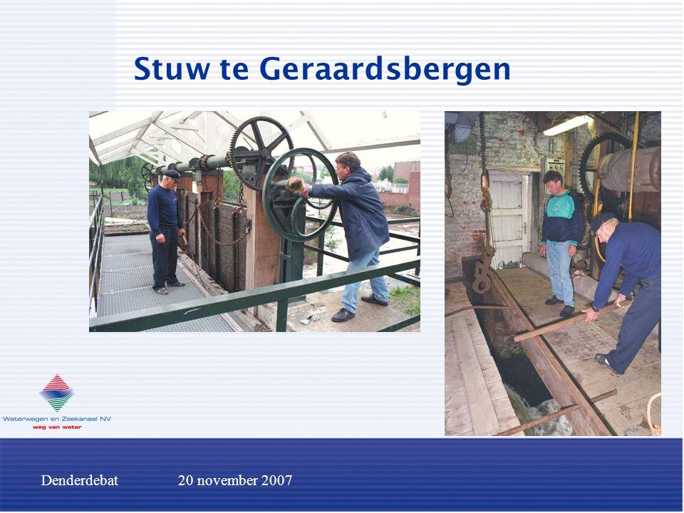 Denderdebat20 november 2007 Stuw te Geraardsbergen