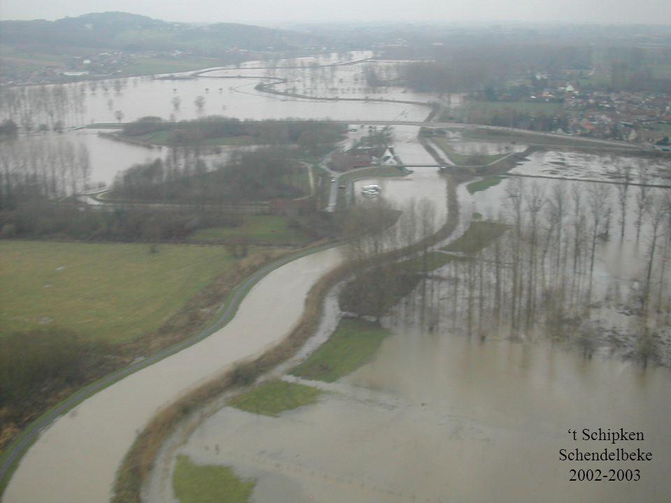 Denderdebat20 november 2007 Waterbeheersing en Integraal Waterbeheer  andere visie op hoogwater uitgangspunt: overstromingen zijn een natuurlijk en onvermijdbaar verschijnsel.