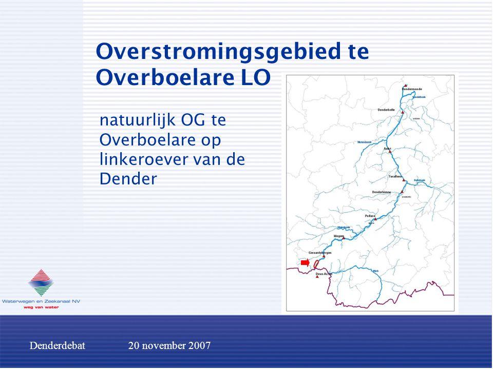 Denderdebat20 november 2007 Overstromingsgebied te Overboelare LO natuurlijk OG te Overboelare op linkeroever van de Dender