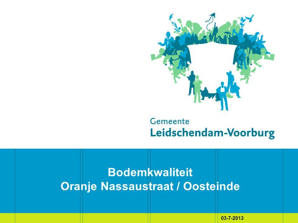 03-7-2013 Bodemkwaliteit Oranje Nassaustraat / Oosteinde