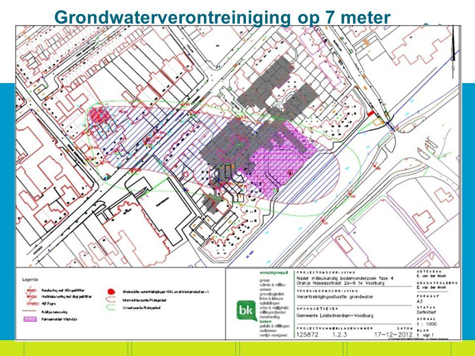 Grondwaterverontreiniging op 7 meter