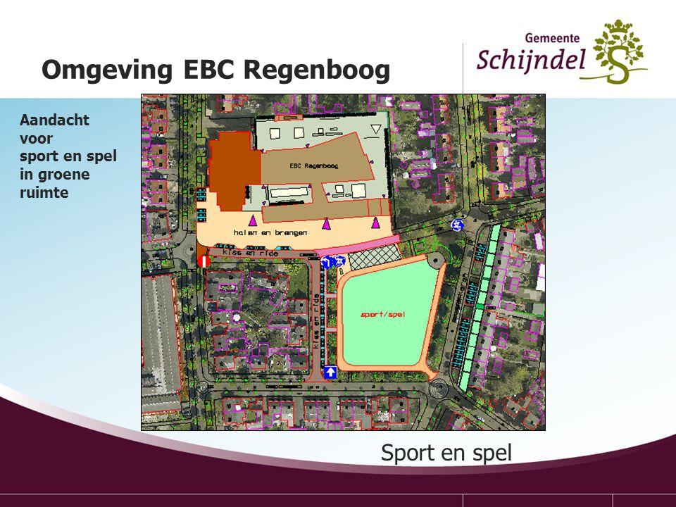 Sport en spel Omgeving EBC Regenboog Aandacht voor sport en spel in groene ruimte