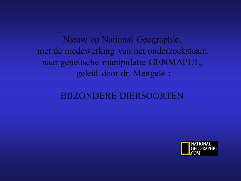Nieuw op National Geographic, met de medewerking van het onderzoeksteam naar genetische manipulatie GENMAPUL, geleid door dr.