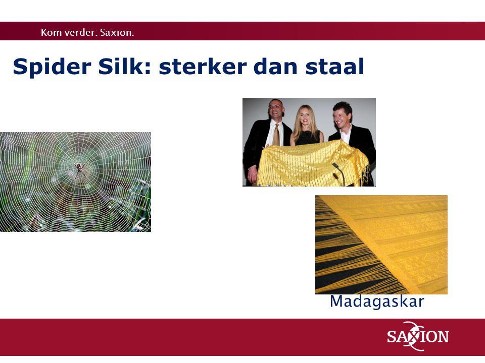 Kom verder. Saxion. Spider Silk: sterker dan staal Madagaskar