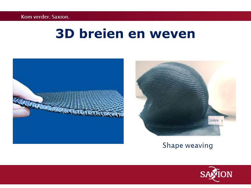 Kom verder. Saxion. 3D breien en weven Shape weaving