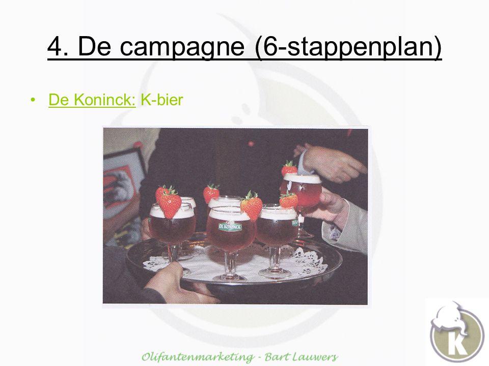 4. De campagne (6-stappenplan) De Koninck: K-bier