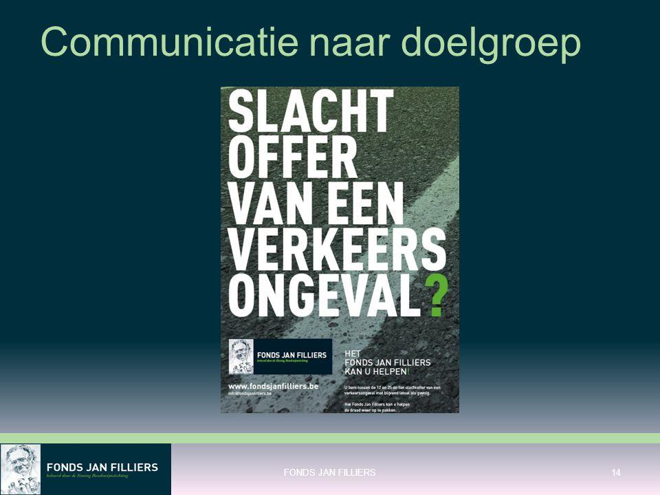 Communicatie naar doelgroep FONDS JAN FILLIERS14