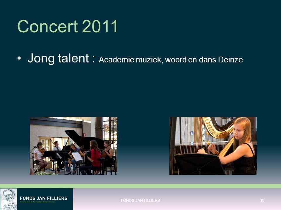 Concert 2011 Jong talent : Academie muziek, woord en dans Deinze FONDS JAN FILLIERS18