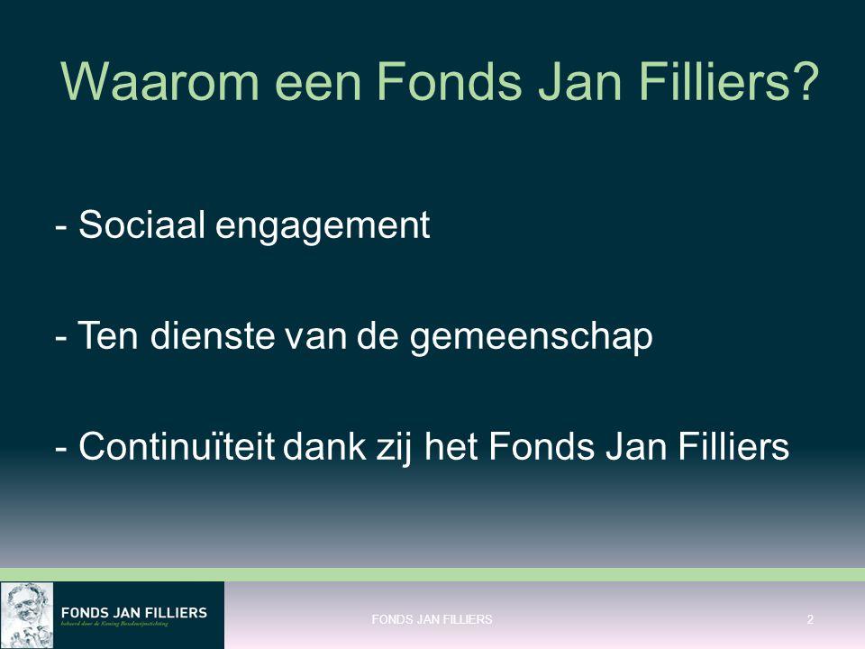 Waarom een Fonds Jan Filliers.