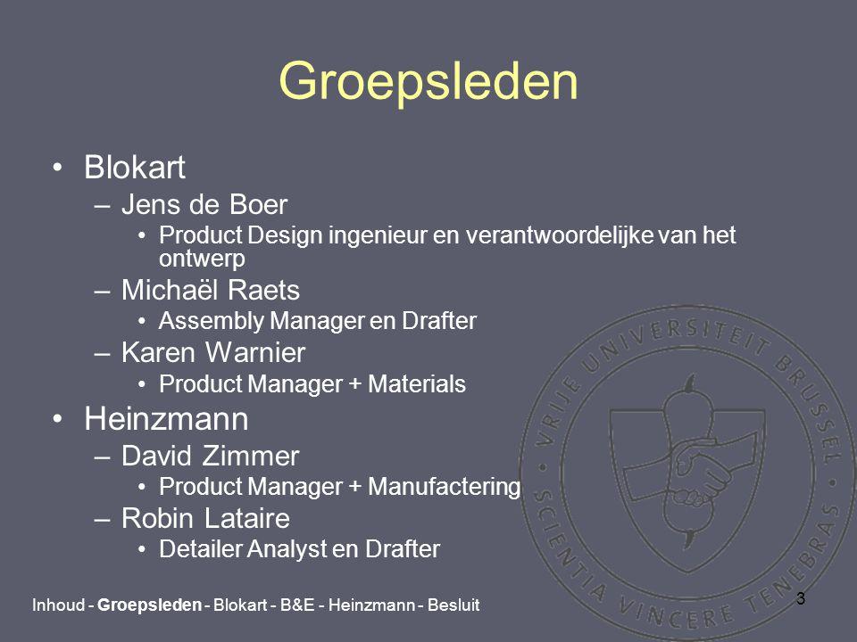 4 Blokart Inhoud - Groepsleden - Blokart - B&E - Heinzmann - Besluit