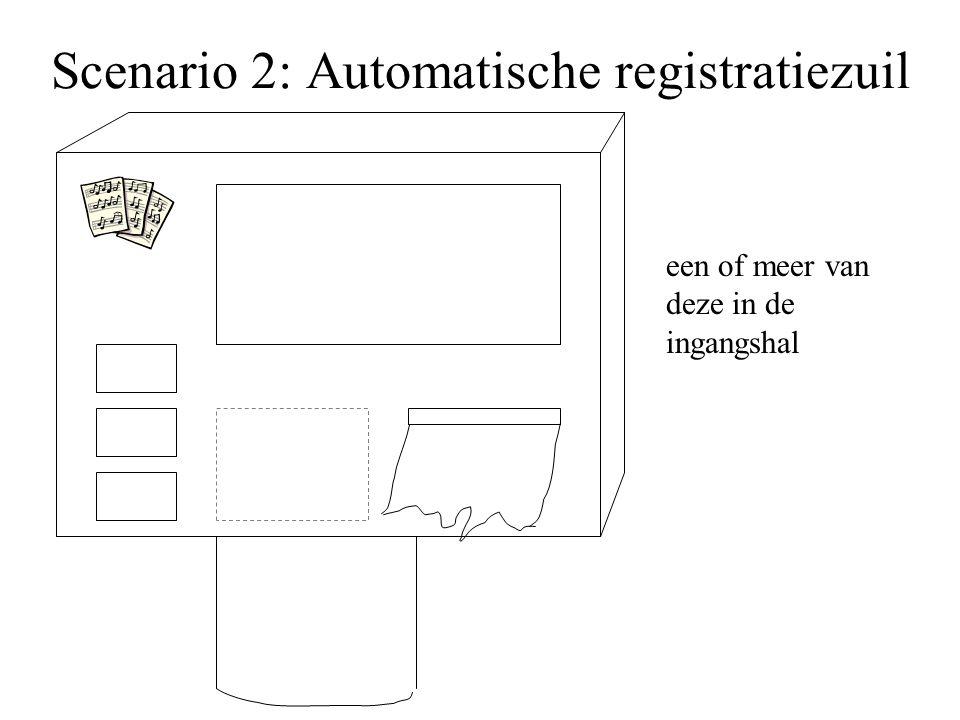 Scenario 2: Automatische registratiezuil een of meer van deze in de ingangshal