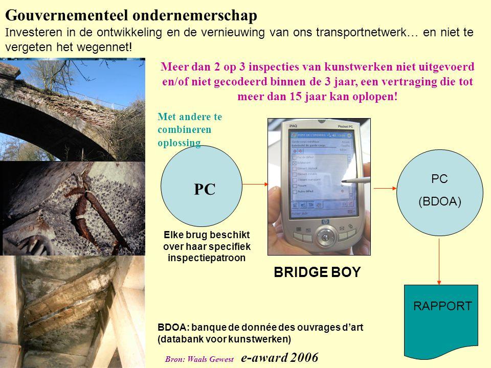 Gouvernementeel ondernemerschap I nvesteren in de ontwikkeling en de vernieuwing van ons transportnetwerk… en niet te vergeten het wegennet.