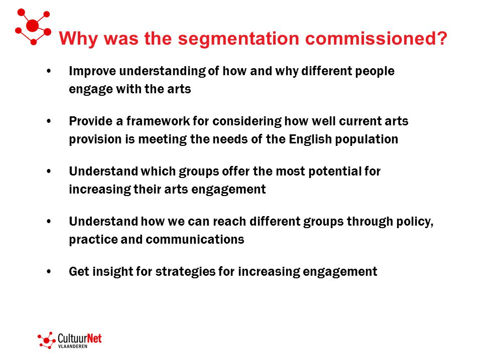 Why was the segmentation commissioned.