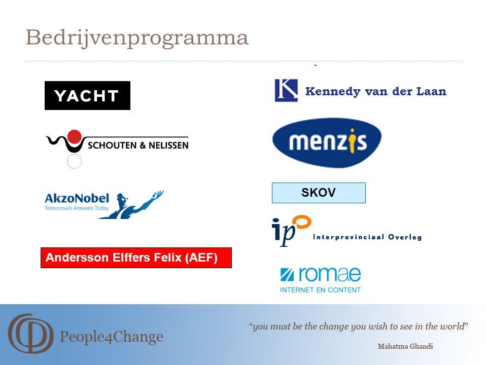 Bedrijvenprogramma Andersson Elffers Felix (AEF) SKOV Kennedy van der Laan