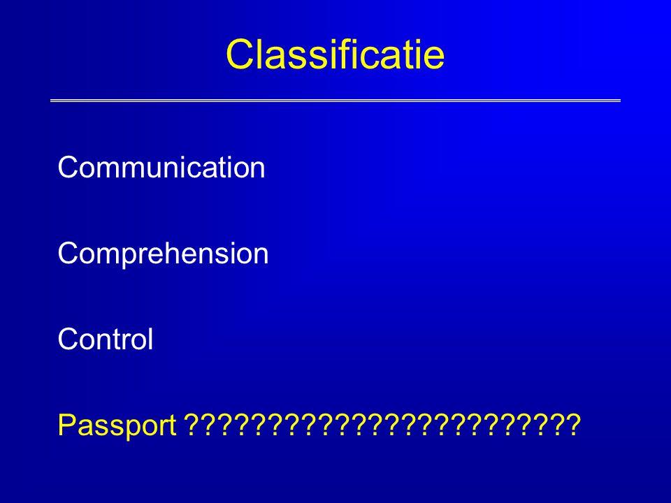 Classificatie Communication Comprehension Control Passport ????????????????????????