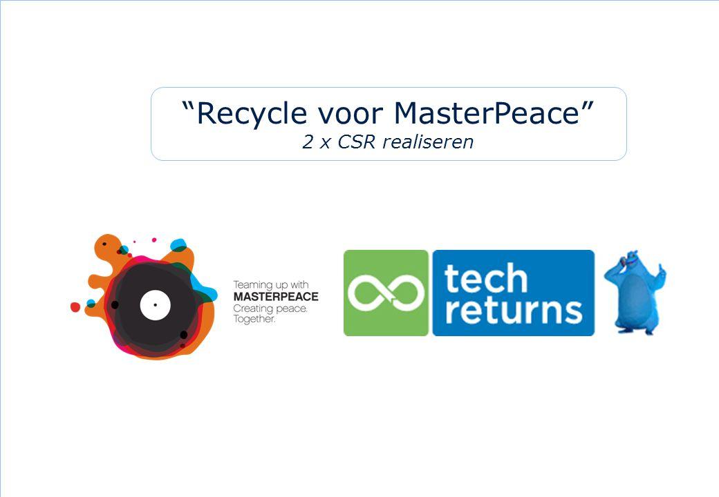 """14 """"Recycle voor MasterPeace"""" 2 x CSR realiseren"""