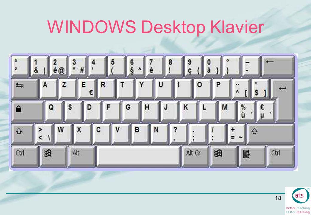 18 WINDOWS Desktop Klavier