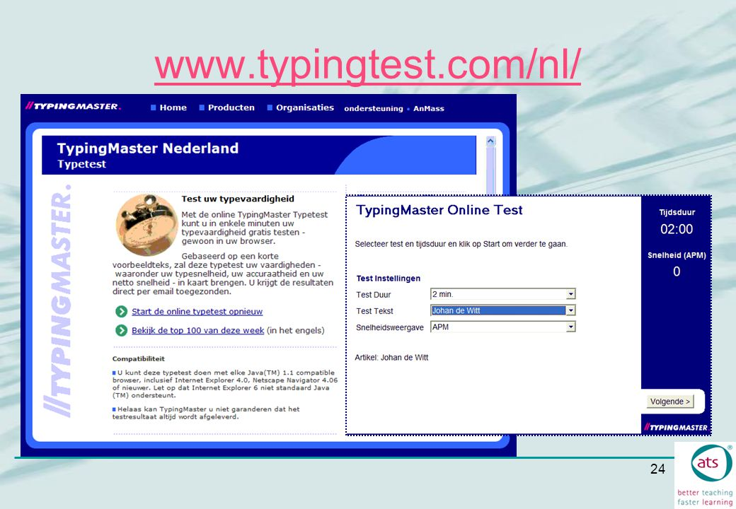 24 www.typingtest.com/nl/