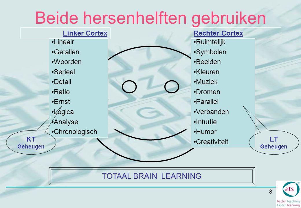 8 Beide hersenhelften gebruiken Lineair Getallen Woorden Serieel Detail Ratio Ernst Logica Analyse Chronologisch Linker Cortex Ruimtelijk Symbolen Bee