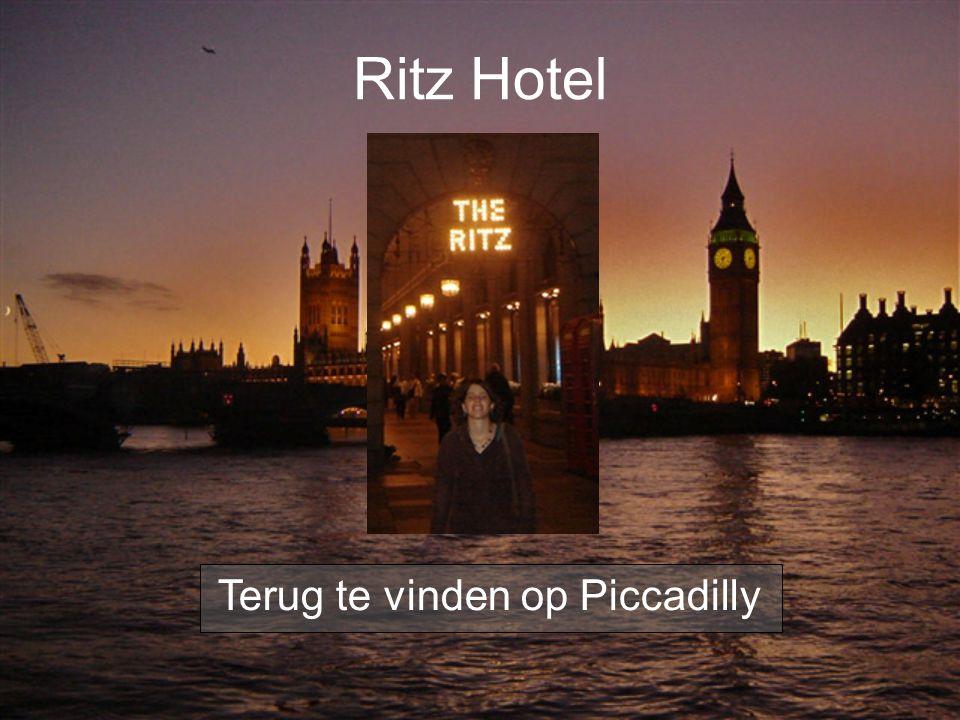 Ritz Hotel Terug te vinden op Piccadilly