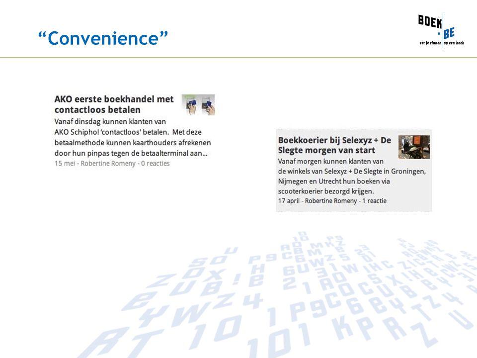 """""""Convenience"""""""