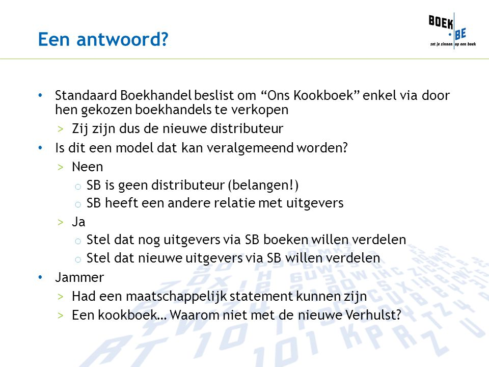 """Een antwoord? Standaard Boekhandel beslist om """"Ons Kookboek"""" enkel via door hen gekozen boekhandels te verkopen >Zij zijn dus de nieuwe distributeur I"""