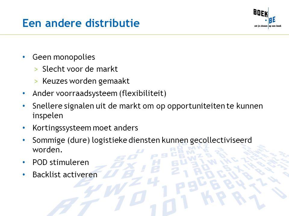 Een andere distributie Geen monopolies >Slecht voor de markt >Keuzes worden gemaakt Ander voorraadsysteem (flexibiliteit) Snellere signalen uit de mar