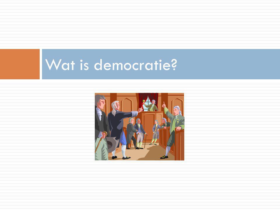 Wat is democratie?