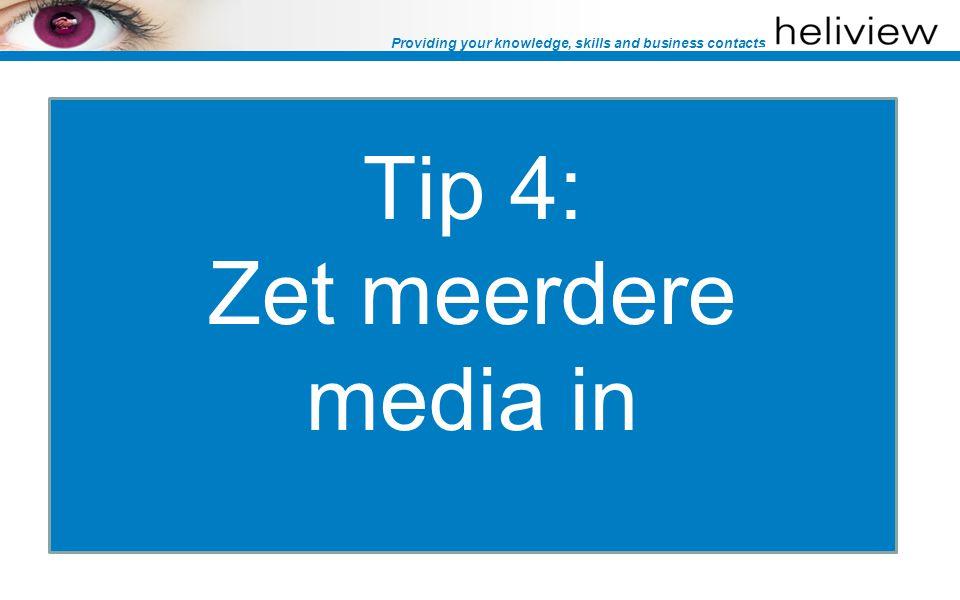 Providing your knowledge, skills and business contacts Promotiemiddelen Email nieuwsbrieven (eigen editie & inkoop) Zoekmachines (SEO & SEA) Social Media (Twitter, Facebook & LinkedIn) Whitepaper Portals